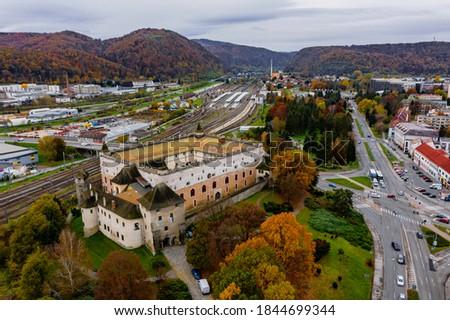 Zvolen Castle during autumn, Slovakia Zdjęcia stock ©