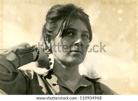 ZVOLEN, CZECHOSLOVAKIA, CIRCA 1969 - young woman- circa 1969