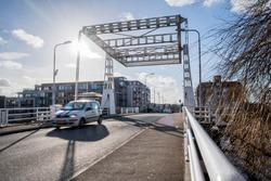 Zwanenburg bridge in city center. Zwanenburg is a village near Amsterdam and Schiphol
