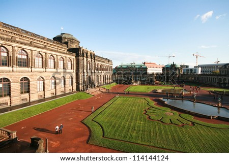 Zwinger palace garden, Dresden, Germany