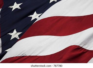 Stock photograph of U S flag
