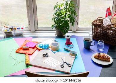 Stock picture of creative DIY hobby work