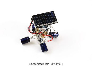 stock pictures of a robot powered by solar energy