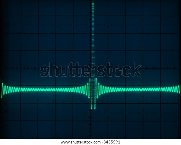 Stock pictures of waveform displays correspondig to several electrical and electronic signal for analysis