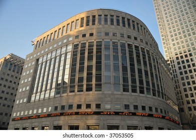 Stock prices at Canary Wharf