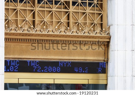 Nyse Quotes | Stock Quotes Outside Nyse Stock Photo Edit Now 19120231 Shutterstock