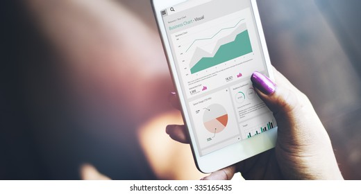 Stock Statistic Analysis Information Chart Bar Data Concept