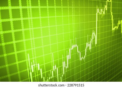 Stock trade live. Online forex data. Chart up, success, growth, success.