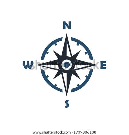 иконка, навигации, компас векторная графика