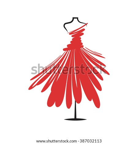 a  dress red mannequin