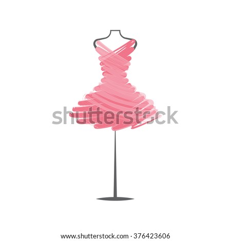 a  dress rose mannequin