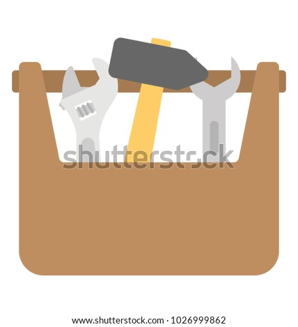 A garage toolkit flat vector icon