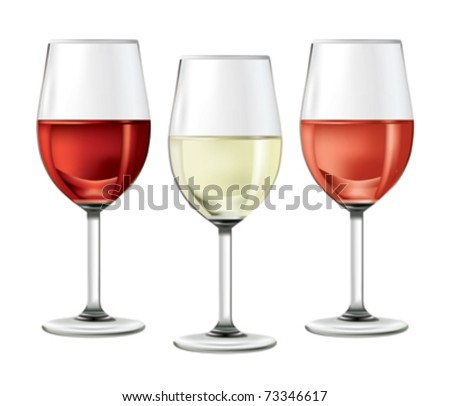 01A4NCY4 Wine Glass and Wine Bottle - stock vector