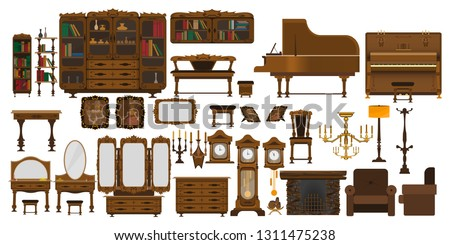 a set of antique furniture for