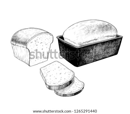 stock-vector--a-set-of-different-images-of-white-bread-white-bread-in-a-baking-dish-half-of-bread-and-sliced