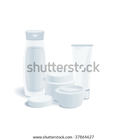 A set of women's cosmetics. Vector