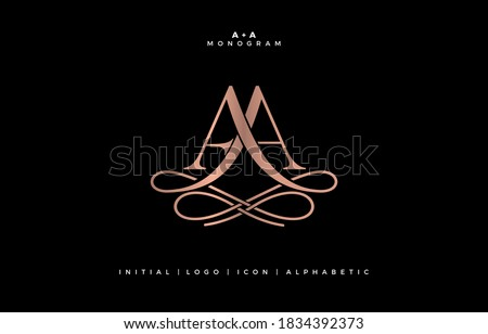 AA Monogram Logo, AA Initial Letter, Wedding logo monogram, logo company and icon business,  with variation infinity line designs for marriage couple, fashion, jewelry, boutique and creative template