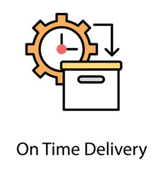 About to dispatched package along with a gear clock showing concept of on time delivery