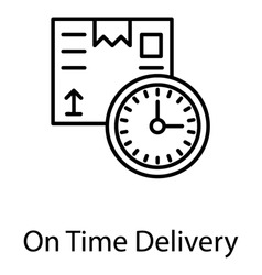 About to dispatched package along with a wall clock showing concept of delivery in time