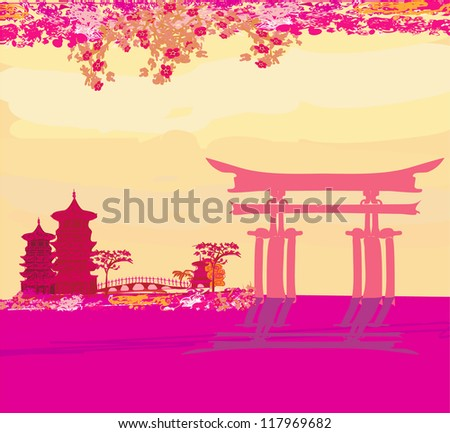 abstract Chinese landscape