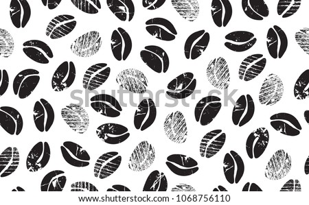 abstract coffee beans on white