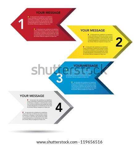 Abstract 3D arrow speech bubble background. EPS10