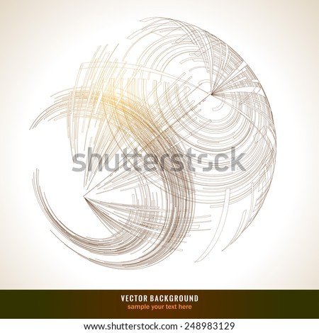 abstract 3 d sphere