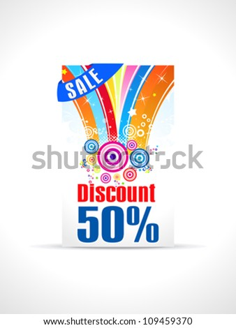abstract fifty percent discount card template vector illustration