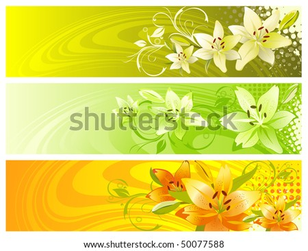 Abstract floral design. Vector illustration.
