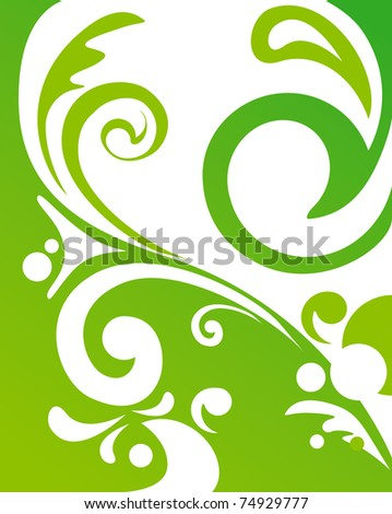 abstract floral ornament, vector illustration