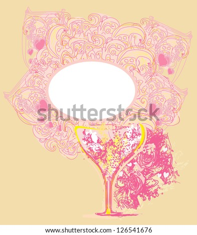abstract frame design with cocktail. vector illustration