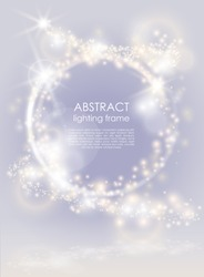 Abstract glow bright background. Sparkling light festive poster. For Christmas and New year project