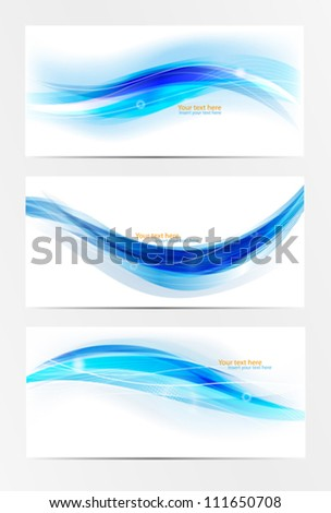 Abstract header blue wave vector set