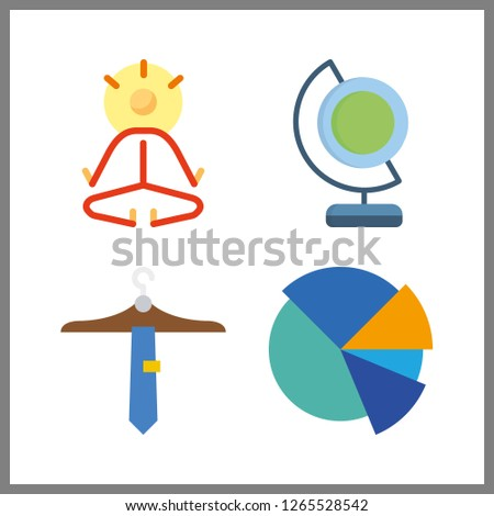 4 abstract icon vector