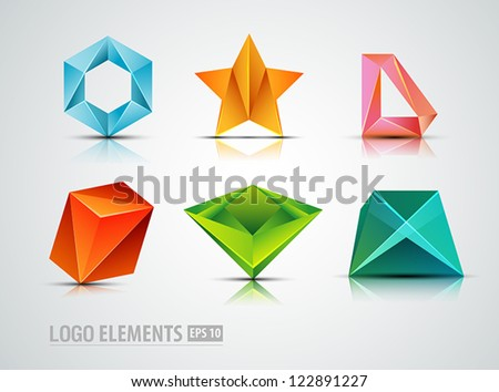 �Abstract Logo elements