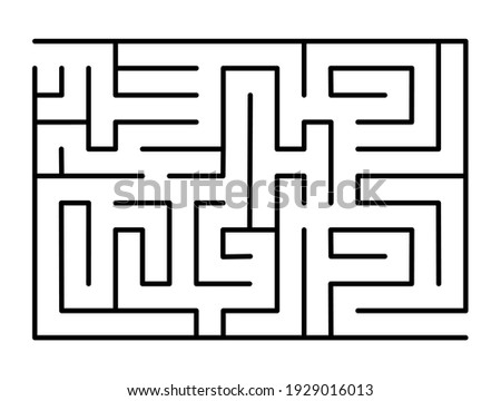 abstract maze find right way