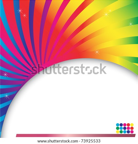 Abstract multicolored background with place for text. vector.