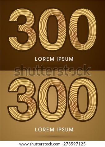 300  abstract number  font