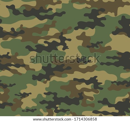 Abstract seamless camouflage pattern for printing clothes, fabrics. Army background. Vector design.