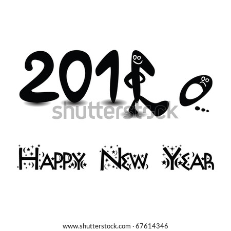 2011 abstract vector background happy new year