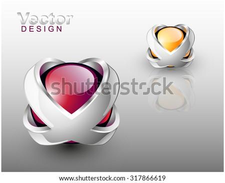 abstract vector design logo