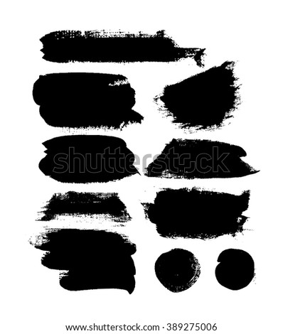 abstract vector paint blots
