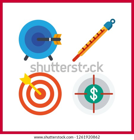 4 accuracy icon. Vector illustration accuracy set. measuring and target icons for accuracy works