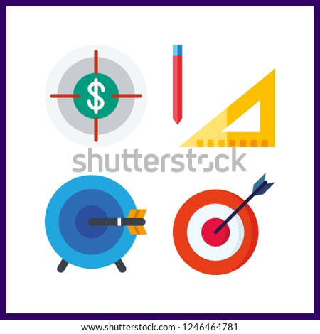 4 accuracy icon. Vector illustration accuracy set. measuring and targeting icons for accuracy works