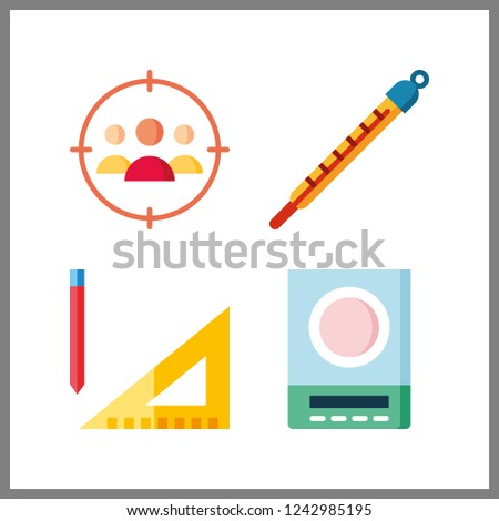 4 accuracy icon. Vector illustration accuracy set. target and measuring icons for accuracy works