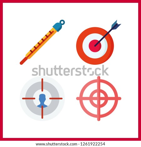 4 accuracy icon. Vector illustration accuracy set. target and targeting icons for accuracy works