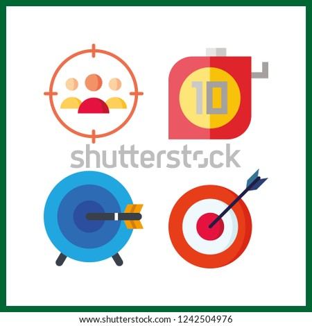 4 accuracy icon. Vector illustration accuracy set. targeting and measuring icons for accuracy works