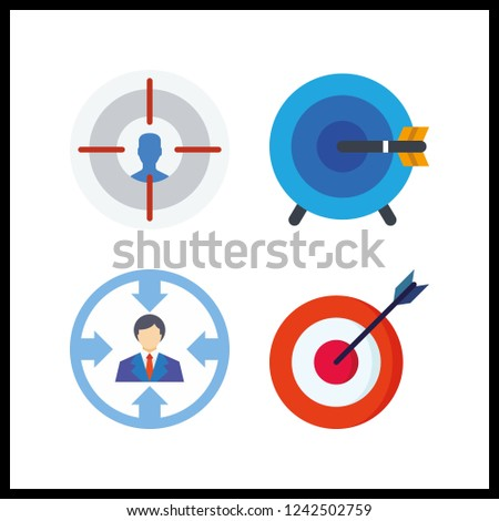 4 accuracy icon. Vector illustration accuracy set. targeting and target icons for accuracy works