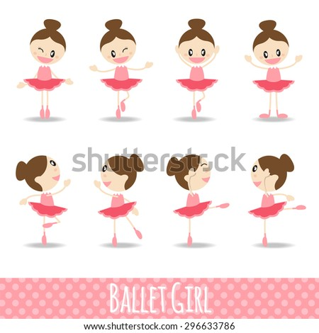 8 action pink cute girl ballet