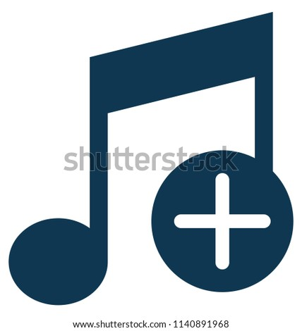 Add Music Glyph Vector Icon editable
